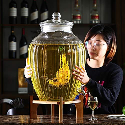 30 l buiten glazen drankdispenser met stevige basis & roestvrijstalen spigot -drankdispenser voor limonade/thee/koud water A~