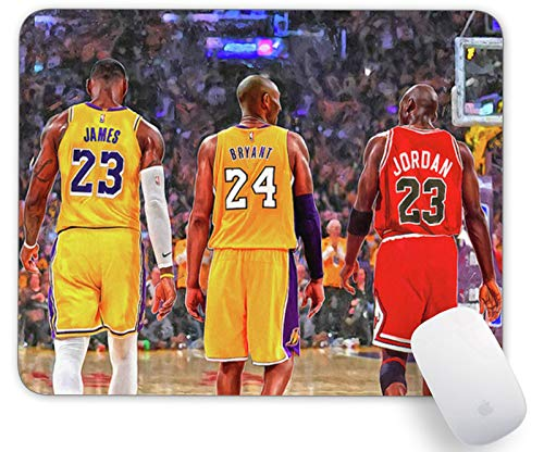Basketball Mouse Pad , Personalized Design Rectangle Mousemat Non-Slip Rubber Mouse Pads for Office Computers Laptops The Best Gift