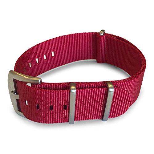 BluShark - Correa de nailon para reloj, disponible en varios tamaños y estilos