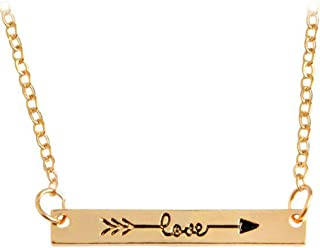 Edary Stainless Steel Necklace Arrow Love Necklace for Women and Girls