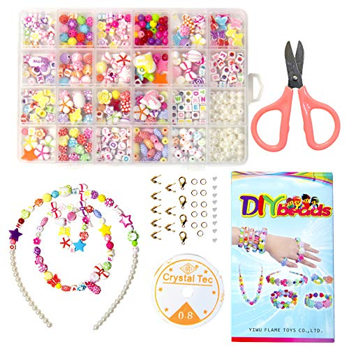 Perlen Buchstaben, 3 mm mit 24-Gitter Aufbewahrungsbox Perlen Zum Auffädeln Erwachsene, Bastelperlen, Kinder Basteln, 24 Colours