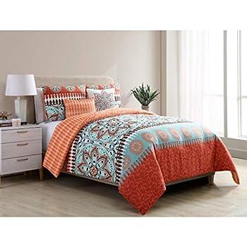 aqua queen comforter set