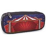 Astuccio in pelle rosso Circo Tenda in tela Tendone da circo Spettacoli teatrali Pagliaccio Allegro Notte Blu Navy Rosso
