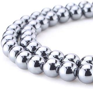 Hematite Gems Healing Crystal Quartz Loose Beads for Earrings Bracelet Necklace Anklet Charm Keychain Zipper 108 Mala Yoga...