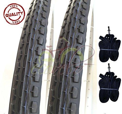 Deestone EBA24BND 2 COPERTONI BIANCONERI + 2 Camera d'Aria 24 X 1.75 (47-507) City Bike Bici...