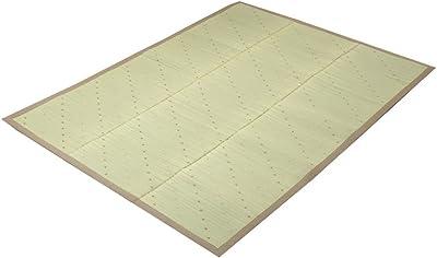 い草ラグ ラグ カーペット 2畳 シンプル ドット 『NFXミルキー』 ブラウン 約190×190cm (裏面:滑りにくい加工)