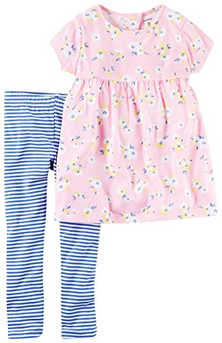 Carter's Carter's Baby Girls 2 Pc Playwear Sets 239g343, Print, 18 Months Baby