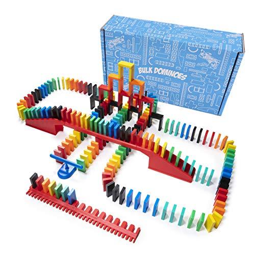 Bulk Dominoes 206pcs ProDomino Starter kit | proScale Premium Stacking amp toppling Domino Set Chain Reaction STEAM Building Toy Set