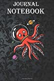 Composition Notebook: Octopus Astronaut Funny Cosmic Space Size 6'' x 9'', 100 Pages for Notes, To Do Lists, Doodles, Journal, Soft Cover, Matte Finish
