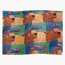 Vibrant Tessellation Colourful Bright Dog Escher Repeat Animals El mejor y más nuevo póster para la sala de decoración del hogar de arte de pared