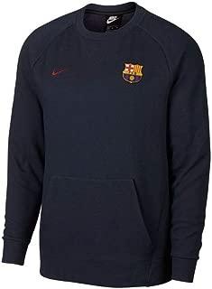 Nike 2018-2019 Barcelona Authentic Venue Crew Sweatshirt (Obsidian)