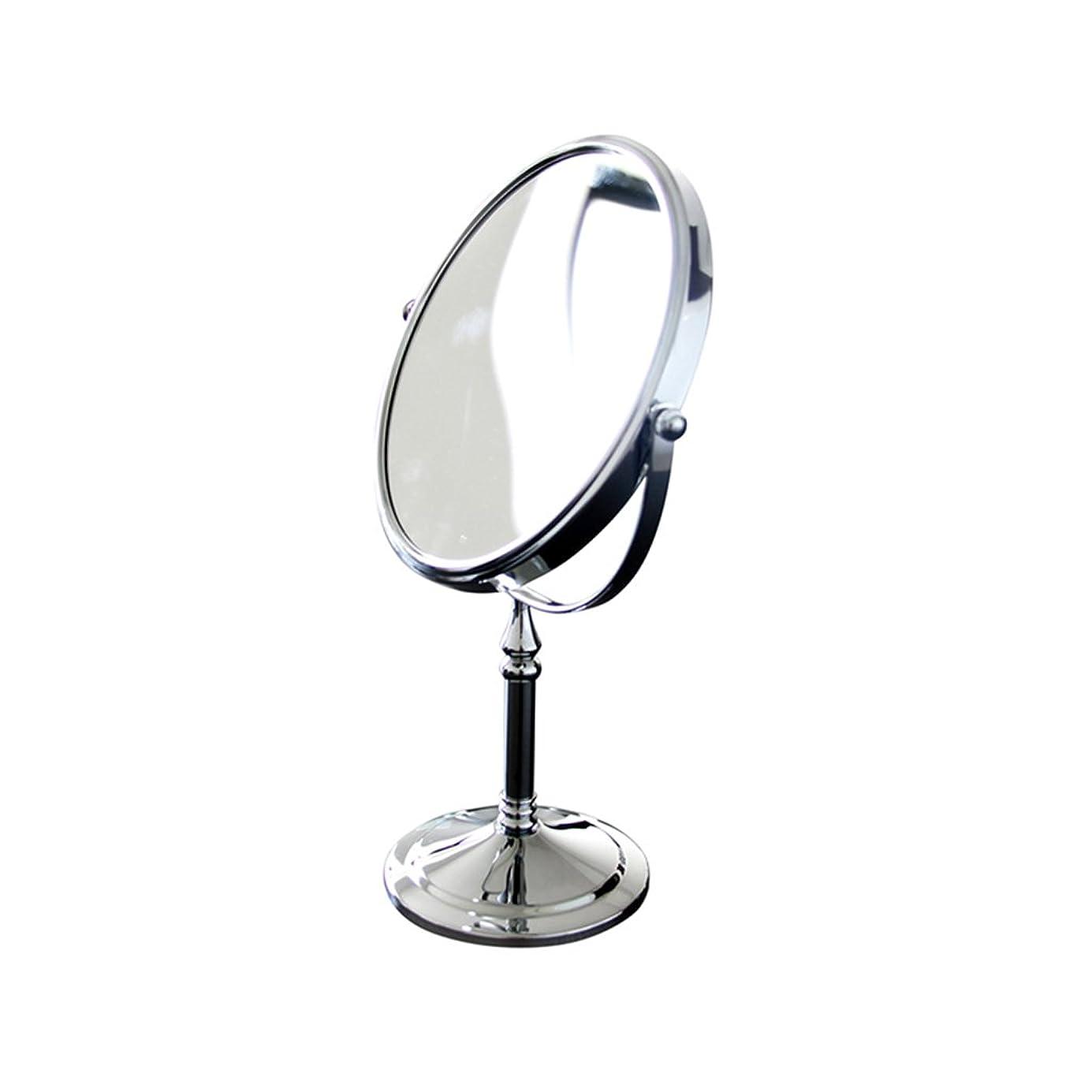 変な解決幸運1倍/ 3倍倍率両面化粧鏡、360度回転卓上化粧台化粧鏡用寝室またはバスルーム