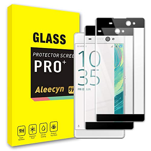 [2 Pack] Glass Screen Protector for Sony Xperia XA Ultra, 3D Curved Edge Full Coverage, Bubble Free, Anti-Scratch, Case Friendly, 9H Tempered Glass Screen Protector for Sony Xperia XA Ultra, Black