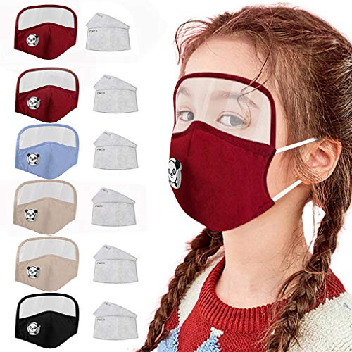 Supertong - Gafas protectoras lavables para niños, reutilizables, transpirables, antipolvo, para interiores y exteriores (O/6PC y 12 filtros)