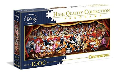 Clementoni-39445 Orchestra Puzzle 1000 Piezas Panorama Disney Orquesta, Multicolor, pezzi (39445.6)