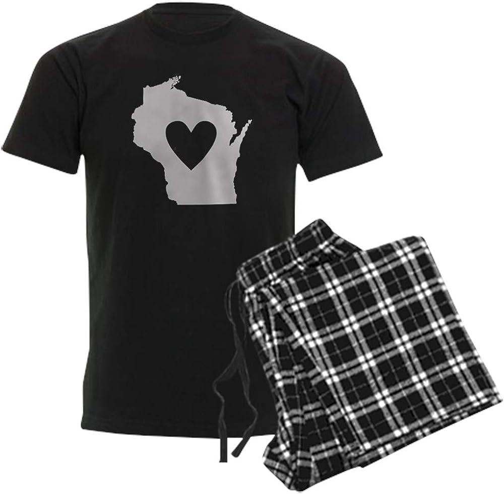 CafePress Heart shipfree Wisconsin Arlington Mall Pajama Set