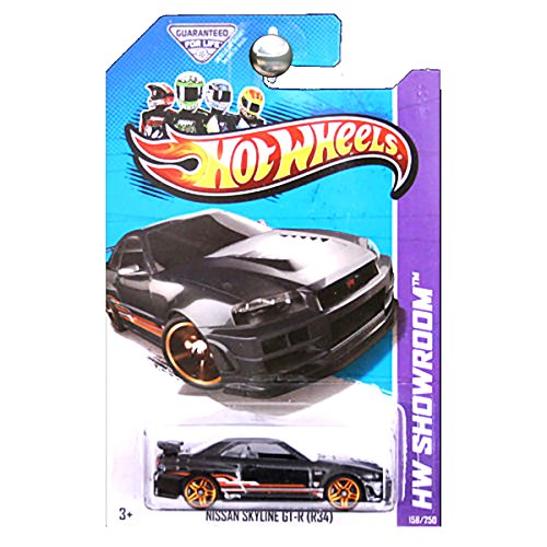 Hot Wheels 2013 Hw Showroom Nissan Skyline GT-R GTR R34 Black