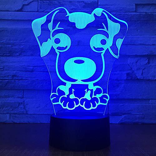 MCJDF Cute Puppy Big Ear Dog Led 3D Luce notturna 7 Cambiare colore Tavolo Desk Lamp camera da letto Lava Light Decor regalo dei bambini
