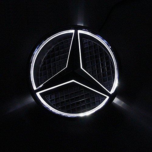 Emblema LED 2011-2018 Parrilla delantera del automóvil ESTRELLA ILUMINADA CLASE A W176 B W246 C W205 Y R CLA CLS ML W166 GLK GLA GL GLK Viano