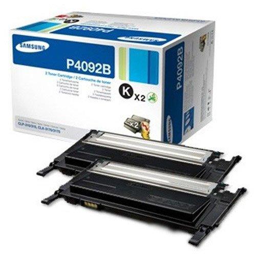 Samsung CLT-P4092B/ELS Original Toner - Twin Pack (Kompatibel mit: CLP-310/CLP-315/CLX-3170/CLX-3175 Series) schwarz