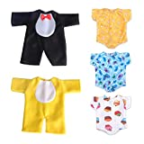 WakaoFeeling 5 Pieces Baby Doll Clothes for 11 Inch Newborn Dolls,12 Inch Alive Dolls and 13 Inch Baby Dolls Boy or Girl