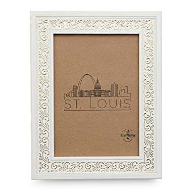 4x6 Picture Frame White - Mount Desktop Display, Frames by EcoHome