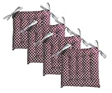 Unity Chair Pads - Cotton Canvas - Value 4 Pack - Fits 15' Chair - Southwest Diamond Pattern - Classic Design (Burgundy)
