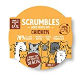 Scrumbles All Natural Wet Cat Food with 70% Chicken, Grain Free Food for Adult Cats, Multipack of 8 X 85g Pouches