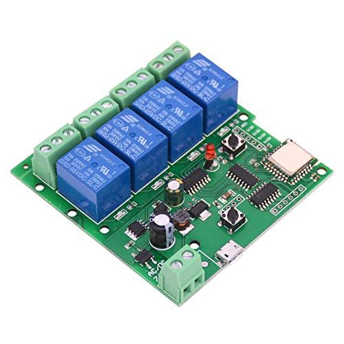 EACHEN Smart Wifi Schalter Wireless Relais Inching/Selbstverriegelung Switch Alexa Relais DIY für Garagentor Fernbedienung, Schaltermodul Ewelink DC5-32V AC90-260V mit Google Zuhause Nest IFTTT(DC4)