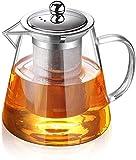 Teiera in vetro con infusore, con infusore, teiera a foglia sciolta con infusore, bollitor...