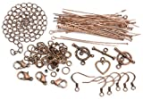 Cousin Jewelry Basics Starter Pack, Copper, 145-Piece