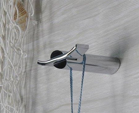 Designer Wandhaken chrom für Bademantel Kleidung Badetücher Handtücher etc.