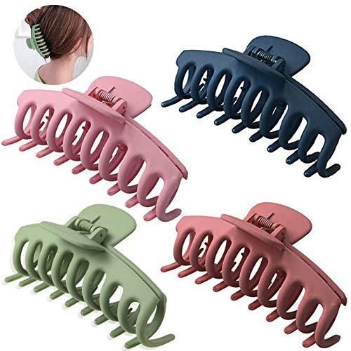 Große Haarklammer, 4 Stück Haarklammern für Frauen,Klaue Clips,Rutschfeste Haarnadel,Haarspangen,haarspangen mädchen,Unregelmäßige,Kiefer kKlammer,Haarspangen,Metall Haarnadel