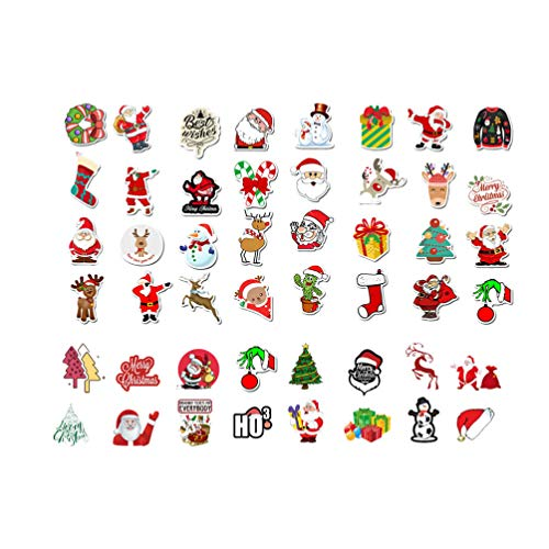 Supvox 100 stücke weihnachten wasserdichte aufkleber geschenk aufkleber für laptop gepäck skateboard motorrad fahrrad aufkleber