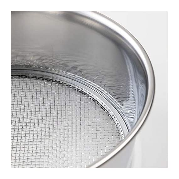 Hanafubuki wazakura 3pcs soil sieve set 8-1/4inch(210mm), made in japan, 3 sieve mesh filter sizes, japanese bonsai… 8 size: φ8. 26 x h 2. 55 in (φ210mm x 65mm)   sieve mesh sizes: 0. 04 in (1mm) 0. 11 in (3mm) 0. 19 in (5mm)   weight: 8. 6oz (245g)   material: frame - stainless steel, sieve mesh - iron made in japan