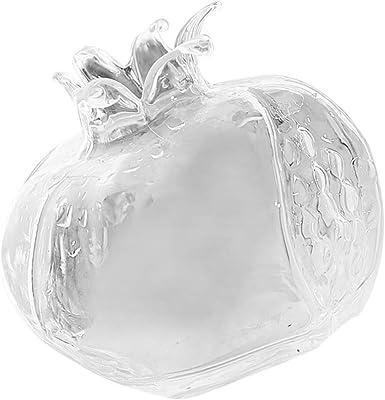 S//L Pomegranate Shape Tabletop Glass Planter Flower Vase Decorative Glass Bottle