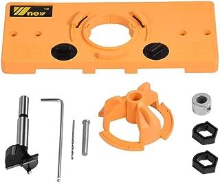 Hinge Jig, Concealed Hinge Jig 35mm Boring Hole Drill Guide Cutter Bit Set for Cabinet Door Installation