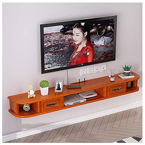Mobile TV, TV Lowboard, Scaffali flottanti, TV a parete con consolle multimediali, 47,2   55.1   59 pollici Camera da letto Camera da letto in legno massello Mobile TV a muro, set di scaffale per rout