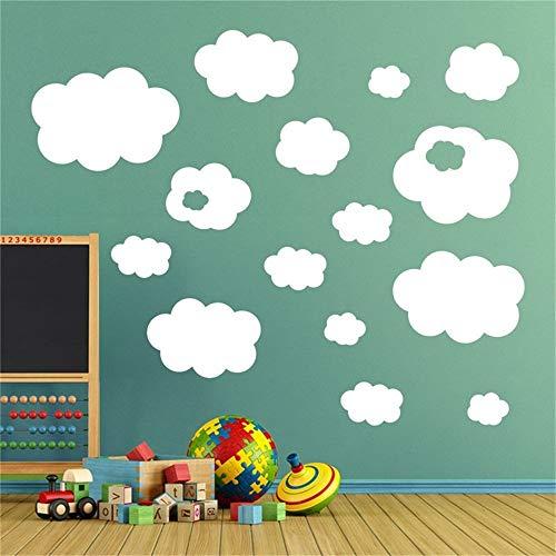 stickers muraux arbres enfants 17 Set Clouds Nursery Kids Decal Salle de jeux pour enfants