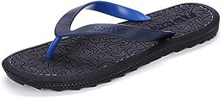 WXFF Tongs pour Hommes en Plein air pour l'été - Sandales Plates résistantes à l'Usure - Slips Quotidiens - Pantoufles Gra...