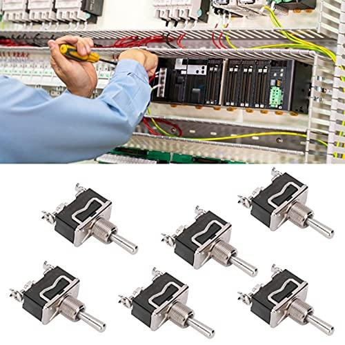 Interruptor momentáneo, 20 piezas Mini interruptor de palanca momentáneo Interruptor de palanca para control industrial para montaje en panel