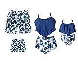 Family Matching Swimwear Set Mother Daughter Bikini Swimsuits...