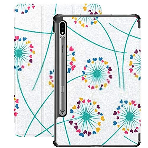 Funda Galaxy Tab S7 Funda Delgada y Ligera con Soporte para Tableta Samsung Galaxy Tab S7 de 11 Pulgadas Sm-t870 Sm-t875 Sm-t878 2020 Release, Dandelion Blowing Plant Vector Floral Seamless