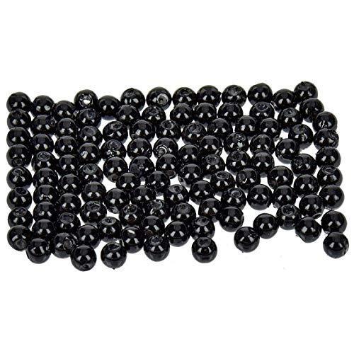 efco–Wachs Perlen, Kunststoff, schwarz, Ø 4mm, 100Stück