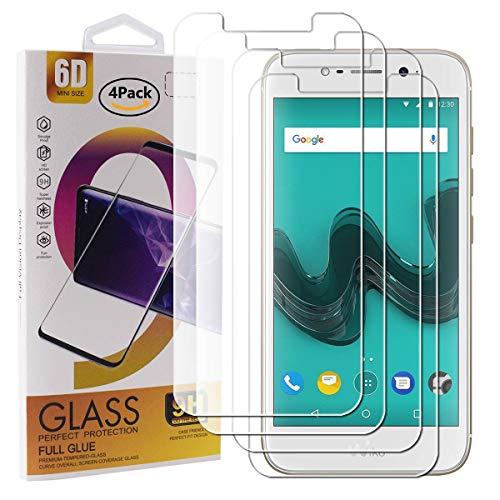 Guran 4 Pezzi Pellicola Protettiva in Vetro Temperato per Wiko Wim Lite Smartphone 9H Durezza Anti-Impronte HD Alta Trasparenza Pellicola