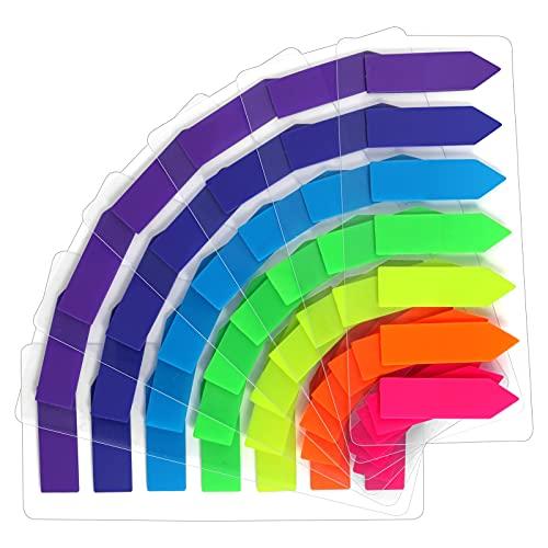 moinkerin 980 Piezas Notas Adhesivas (7 colores-flecha, 980)