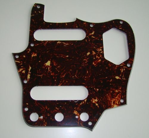 Jaguar guitar 62 pickguard 4ply brown tortoise fits fender