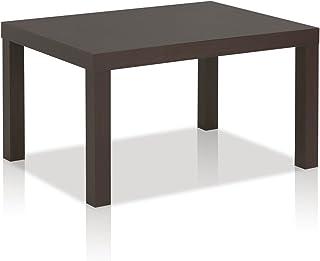 Trasparente 46 x 40 x 55 Cm Tavolo Luxury Z-34 Design Curvo Moderno Elegante Tavolino Basso Tondo da caff/è Salotto Ufficio con Vano Riviste in Vetro Temperato Tavolo Basso dal Design Minimal