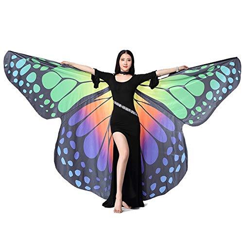 Volwassenen, buikdans, vlindervleugels, 360 graden, dans, veilig en gemakkelijk te vervoeren, danskabel voor Halloween.
