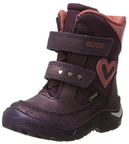 ECCO Baby Mädchen Snowride Klassische Stiefel, Violett (Night Shade-Barolo/Mauve/Rosato), 28 EU
